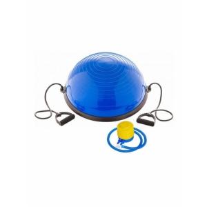 Тренажер BOSU 055 58 см.полусфера с эспандером и насосом