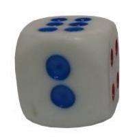 Кубик игровой 206 белый
