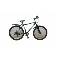 """Велосипед 26"""" AVENGER С260D черно/зеленый"""