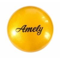 Мяч для художественной гимнастики Ameli AGB-102 19 см с блестками