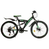 """Велосипед 24"""" NAMELESS V4200D черно-зеленый"""