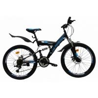 """Велосипед 24"""" NAMELESS V4100 черно-синий"""