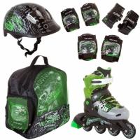 Коньки роликовые ALPHA CAPRICE PW 116 (шлем и защита)